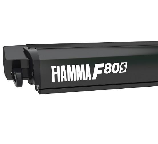 Fiamma F80 awning. 340cm - Black Case with a Royal Grey ...